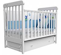 Детская кроватка Верес Соня ЛД 12 маятник+ящик (белый)
