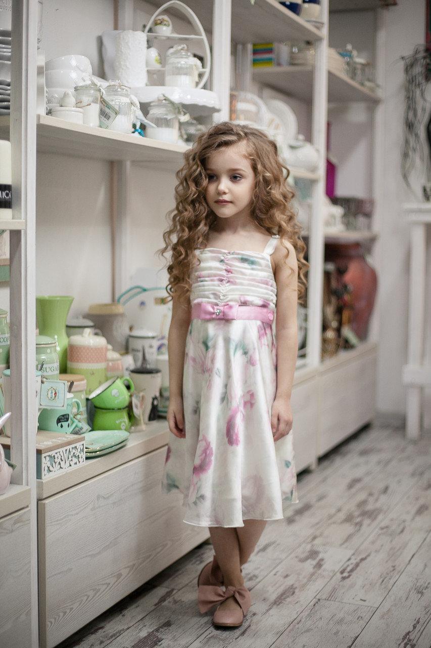 Детское платье для девочки Нарядная одежда для девочек Одежда для девочек 0-2 Byblos Италия BJ3079 Белый