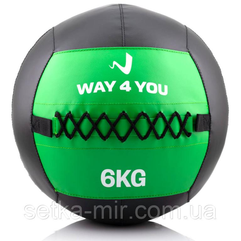 Набивной мяч Wall Ball (медбол) 6 кг.