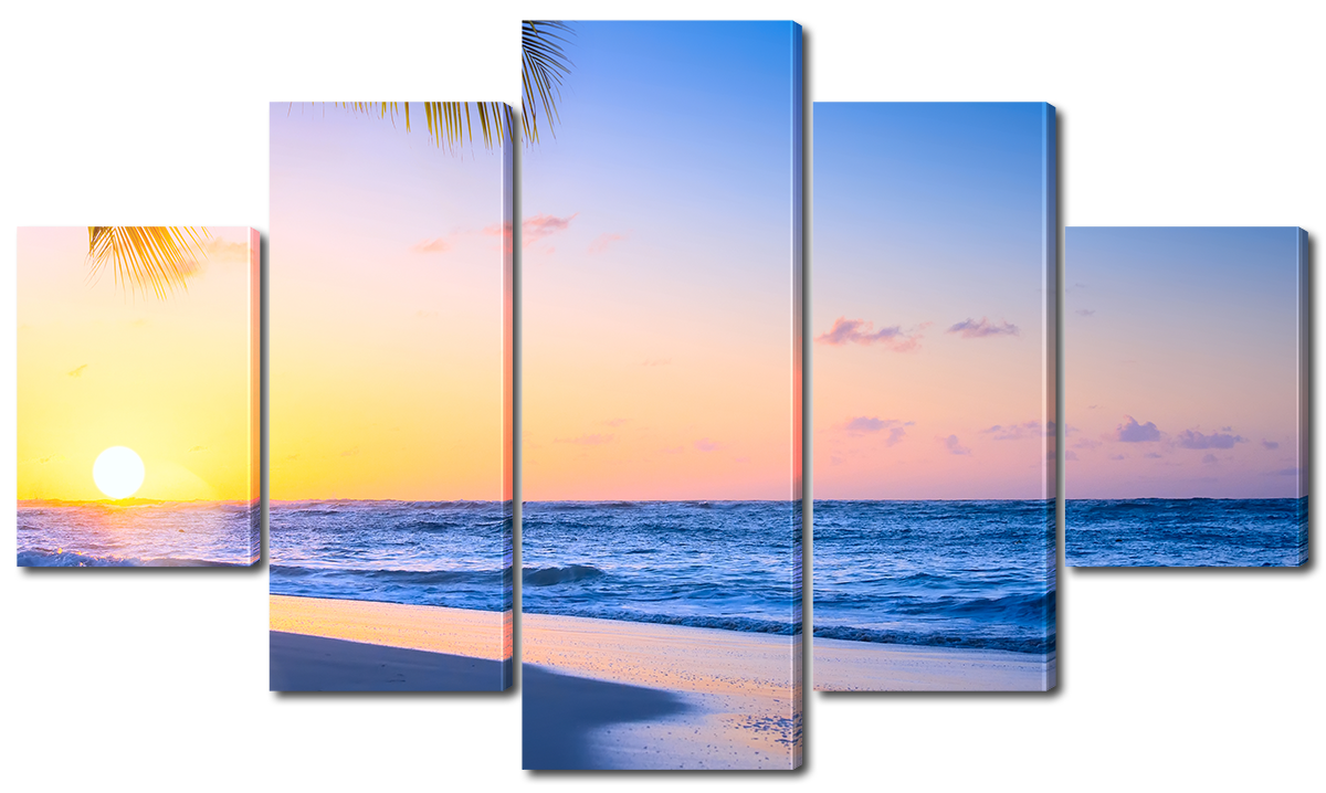 Модульная картина Interno Эко кожа  Ямайское море 158х90см (A3725XL)