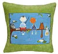 Сувенирная подушка  с вышивкой