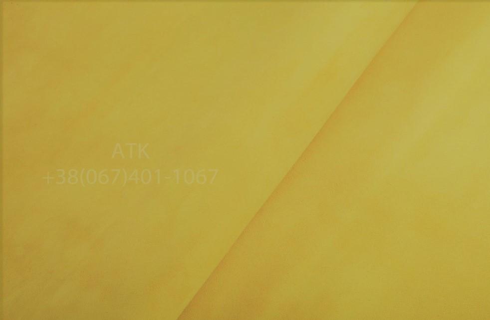 Замша обувная желтая