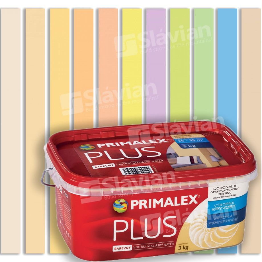 Краска интерьерная Primalex Plus 7.5кг COLOR цветная