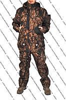 Осенний утеплённый костюм для охоты и рыбалки лесного окраса