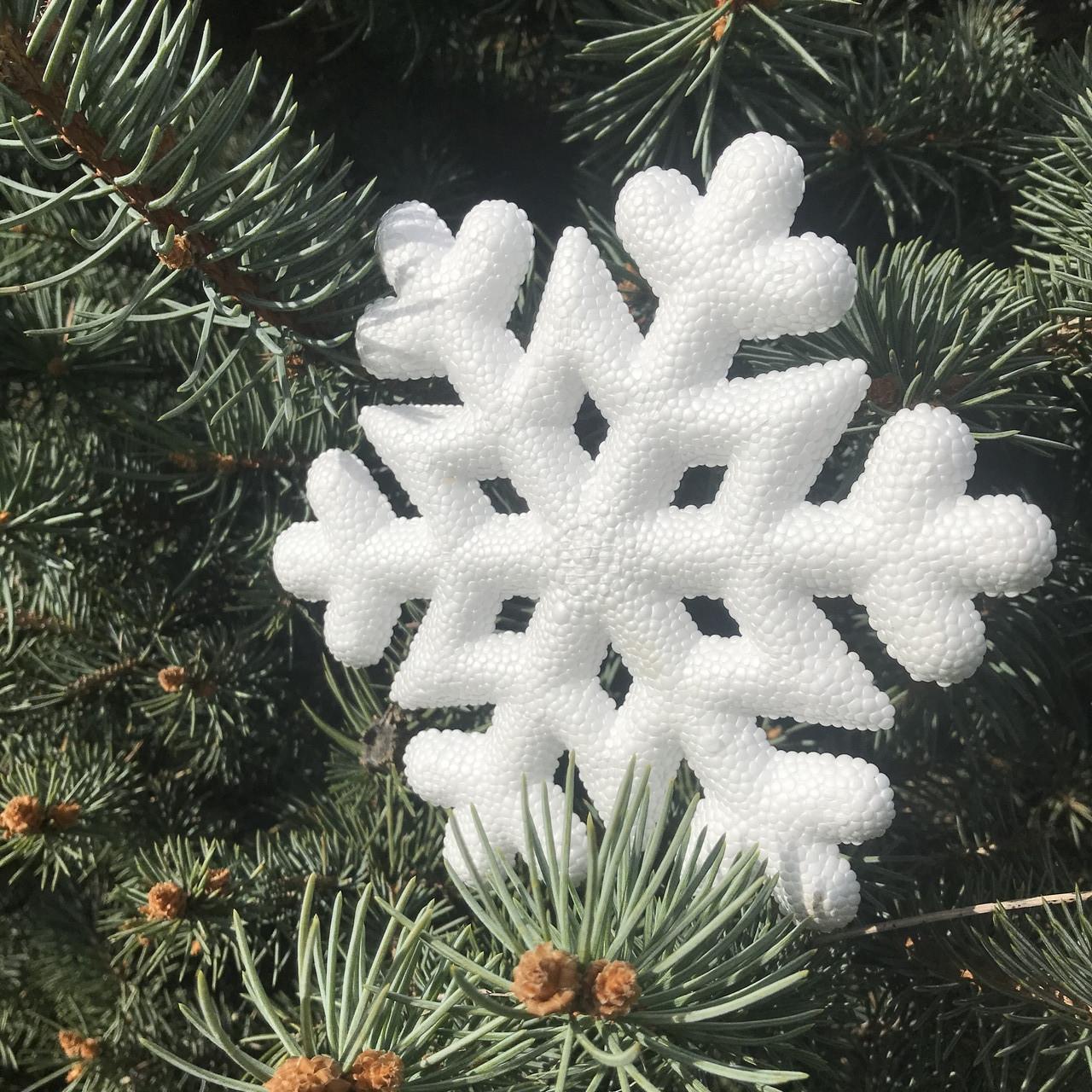 Сніжинка 3D 21см