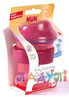 Обучающая чашка-поильник нук NUK 3 Easy Learning с мягкой насадкой для питья
