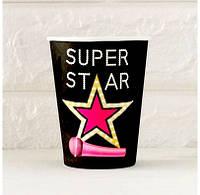 Стаканчик Super Star 270мл розовый