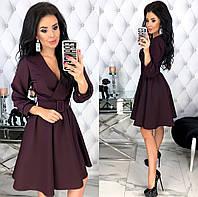 Женское стильное платье из костюмной ткани