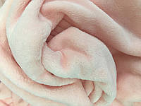 Комплект чехол на кушетку и плед, пудрово - розовый