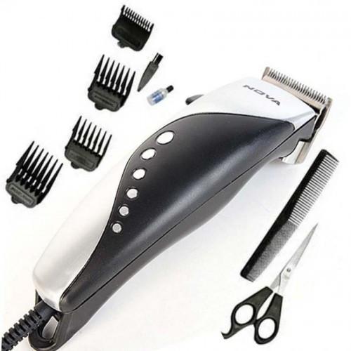 Машинка - триммер для стрижки волос Gemei GM-1015 4 в 1 серая