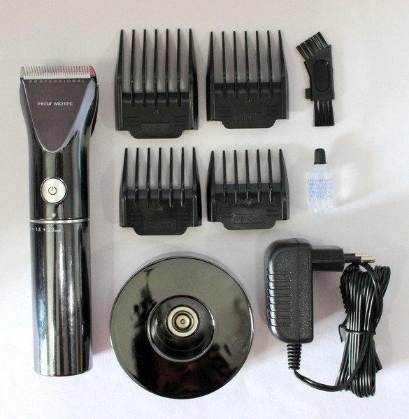 Машинка - триммер для стрижки волос PROMOTEC PM-359 с насадками