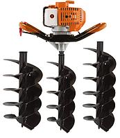 Мотобур Goodluck Super GEA 52/150 (в комплекте 1 шнек 150мм, 1 шнек 200мм и 1 шнек 250мм). Бензобур ГудЛак