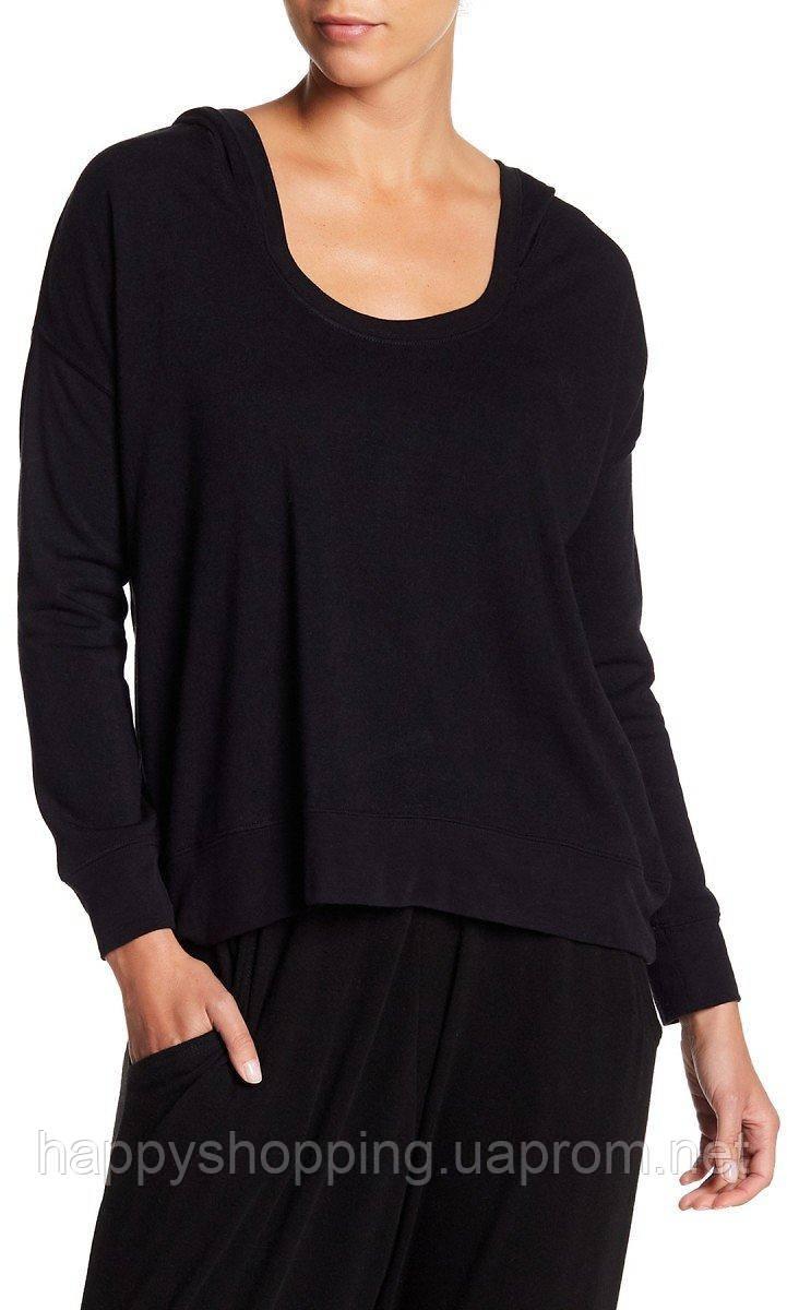 Женская стильная черная кофта с капюшоном Free Press