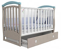 Детская кроватка Верес Соня ЛД 6 маятник+ящик (капучино-голубой)