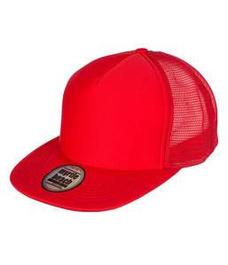 Плоская сетчатая кепка MRER Красный / Красный