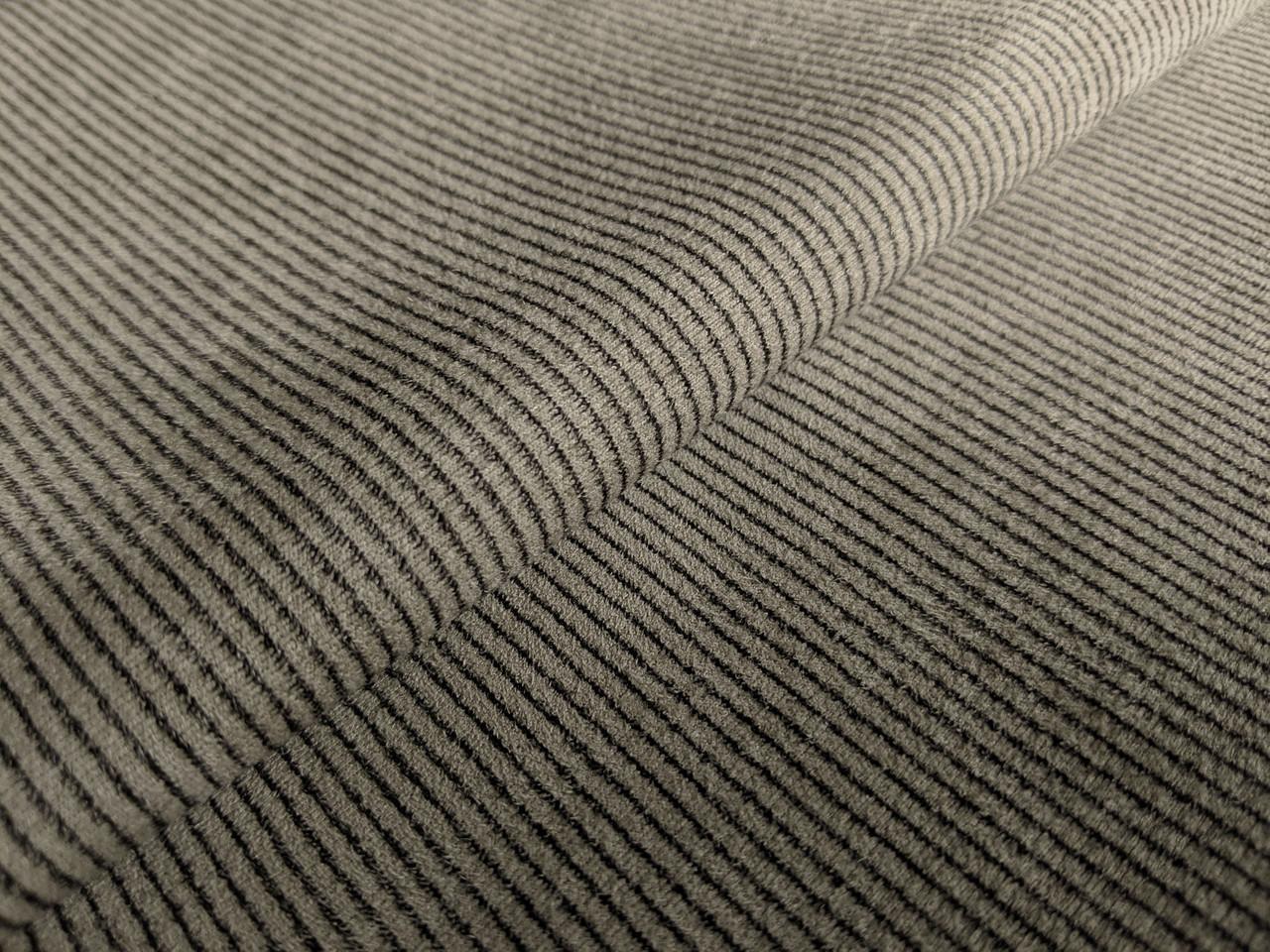 Замша на дайвинге полоска 2 мм, серо-бежевый