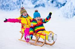 Зимний детский транспорт