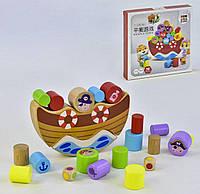 Деревянная игра-балансир Кораблик 35818