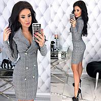 Женское облегающее платье из стрейч джинса