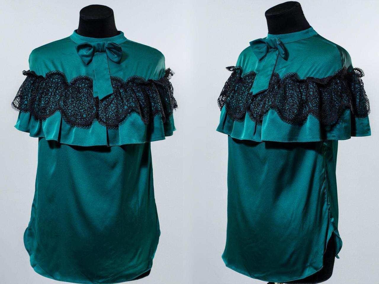 """Великолепная блуза ткань """"Шелк""""  42 размеры норма"""