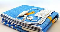 Электропростынь Electric blanket 150*120 с сумкой  электроодеяло обогреватель, голубая
