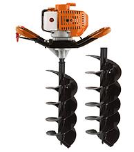 Мотобур Goodluck Super GEA 52/150 (в комплекте 1 шнек 150мм и 1 шнек 250мм). Бензобур ГудЛак
