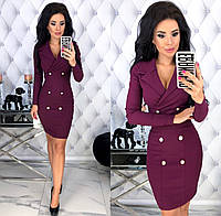 Женское облегающее платье с 42 по 48 рр из стрейч джинса