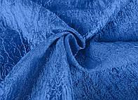 Портьерная ткань жатка синего цвета