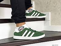 Мужские кроссовки Adidas Gazelle,замшевые,зеленые