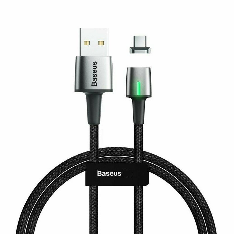 Магнитный Кабель USB Type-C 3A Baseus (CATXC-A01) 1М Черный
