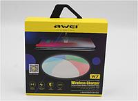 Беспроводная зарядка с подсветкой 7 цветов 10W 7 COLOR AWEI W7 + WIRELESS CHARGE, Зарядка без проводов