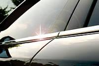 Хром молдинг стекла Mitsubishi pajero wagon (митсубиси паджеро вагон) 2011-   , нерж