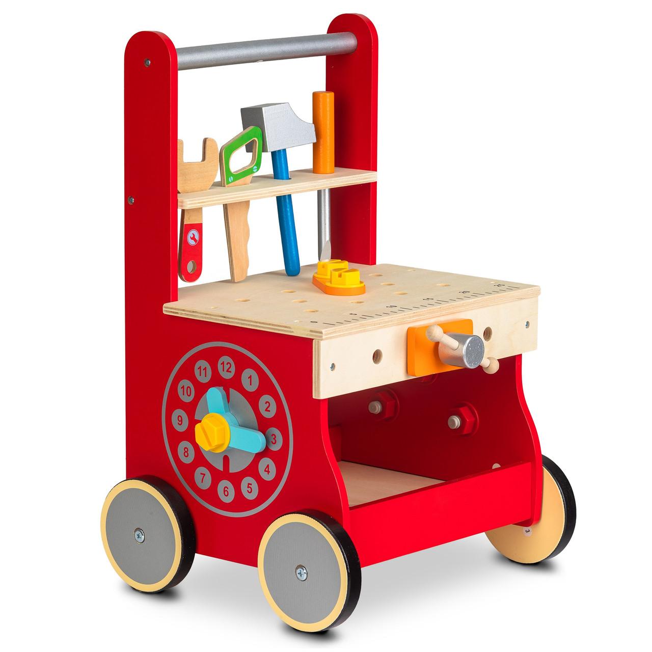 Деревянная игрушка ходунки-каталка Мастерская Ecotoys