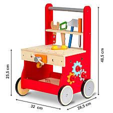 Деревянная игрушка ходунки-каталка Мастерская Ecotoys, фото 3