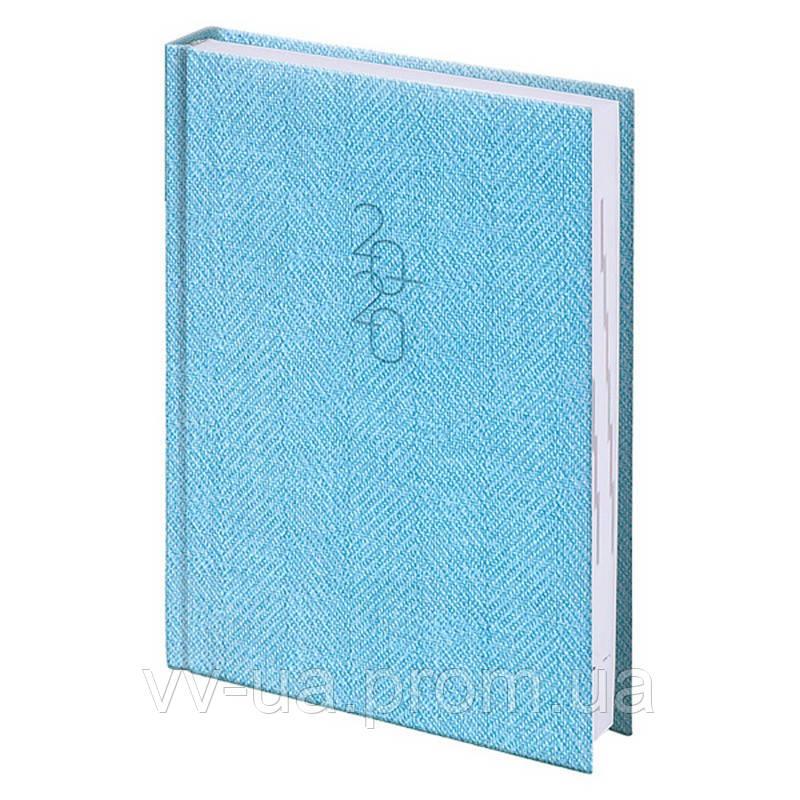 Ежедневник Brunnen 2020 карманный Tweed голубой (73-736 31 33)
