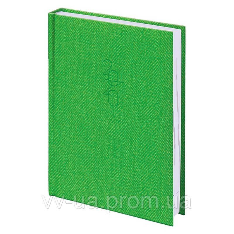 Ежедневник Brunnen 2020 карманный Tweed светло-зеленый (73-736 31 54)