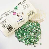 Стразы YHB Lux, цвет Chrysolite, ss16 (3,8-4мм), 100шт