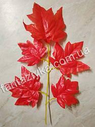 Ветка осеннего красного клена 36см