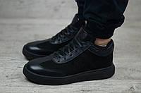 Мужские зимние ботинки на меху в стиле Philipp Plein, кожа, полиуретан, черные *** 40 (26,4 см)