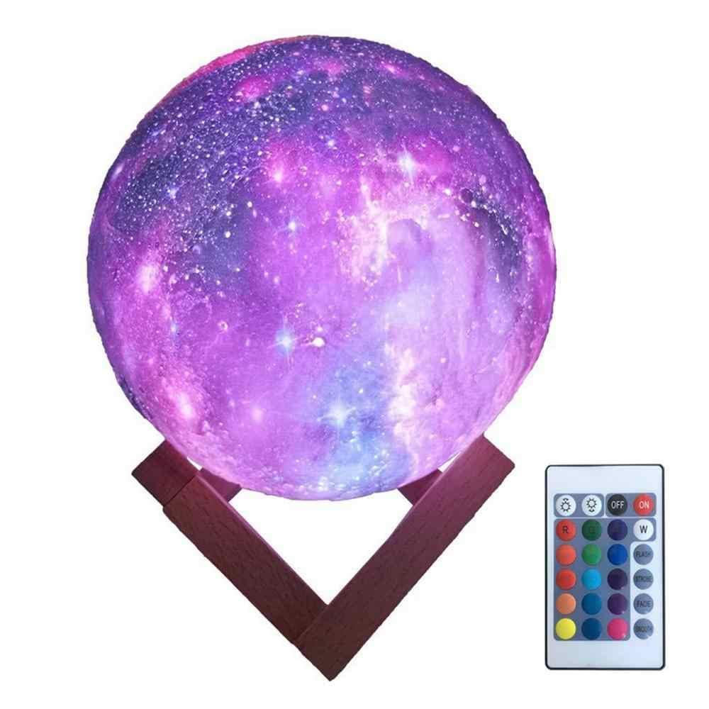 Ночник Луна, 3D Moon Light, аккумуляторный + пульт16 режимов
