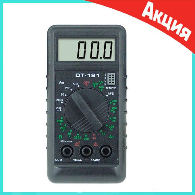 Мультиметр тестер вольтметр амперметр DT 181
