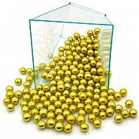 Посыпка шарики золото 7 мм, 50 грамм