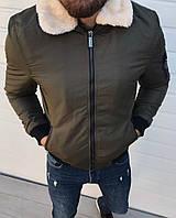 Мужская куртка тёплаяхаки. ( Размеры S, L, XXL).