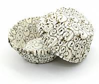Тарталетки (капсулы) бумажные для кексов, капкейков ажурные, фото 1