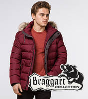 Braggart Aggressive 16115 | Зимняя куртка с опушкой бордовая