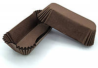 Тарталетки (капсули) паперові для кексів, капкейків Коричневі 100*35*30 мм