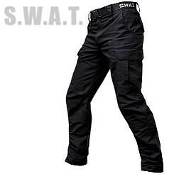"""Брюки тактические """"S.W.A.T."""" BLACK (с ремнём)"""