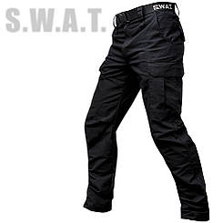"Брюки тактические ""S.W.A.T."" BLACK с ремнём (ВИДЕО)"