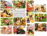 Карманный календарь 1 шт. на 2020 год (8,5*5,5см) - мышка на удачу, символ года, фото 1