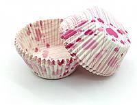 Тарталетки (капсулы) бумажные для кексов, капкейков сердечки №6, фото 1